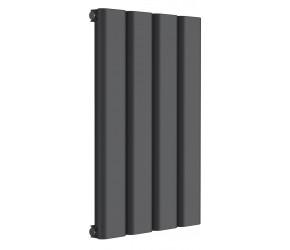 Reina Vicari Anthracite Aluminium Single Panel Horizontal Radiator 600mm x 400mm