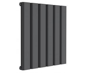 Reina Vicari Anthracite Aluminium Single Panel Horizontal Radiator 600mm x 600mm