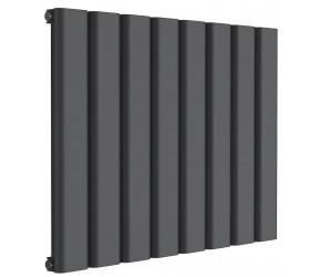 Reina Vicari Anthracite Aluminium Single Panel Horizontal Radiator 600mm x 800mm