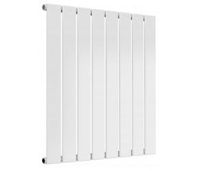 Reina Flat White Single Panel Horizontal Radiator 600mm High x 588mm Wide