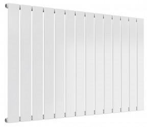 Reina Flat White Single Panel Horizontal Radiator 600mm High x 1032mm Wide