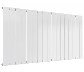 Reina Flat White Single Panel Horizontal Radiator 600mm High x 1254mm Wide