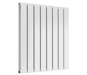 Reina Flat White Double Panel Horizontal Radiator 600mm High x 588mm Wide