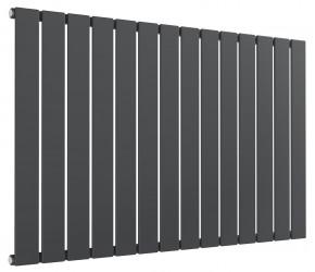 Reina Flat Anthracite Single Panel Horizontal Radiator 600mm High x 1032mm Wide
