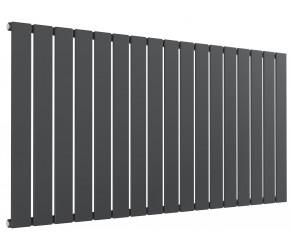 Reina Flat Anthracite Single Panel Horizontal Radiator 600mm High x 1254mm Wide