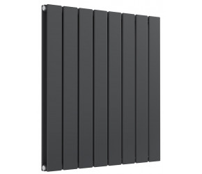 Reina Flat Anthracite Double Panel Horizontal Radiator 600mm High x 588mm Wide