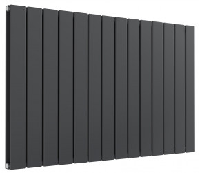 Reina Flat Anthracite Double Panel Horizontal Radiator 600mm High x 1032mm Wide