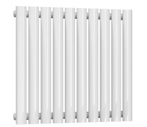 Reina Neva Single Panel Designer Horizontal Radiator 550mm High x 590mm Wide White