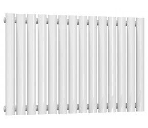 Reina Neva Single Panel Designer Horizontal Radiator 550mm High x 826mm Wide White