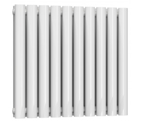 Reina Neva Double Panel Designer Horizontal Radiator 550mm High x 590mm Wide White