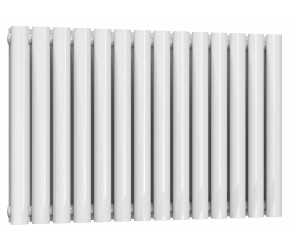 Reina Neva Double Panel Designer Horizontal Radiator 550mm High x 826mm Wide White