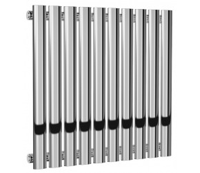 Reina Neva Single Panel Chrome Designer Radiator 550mm x 590mm