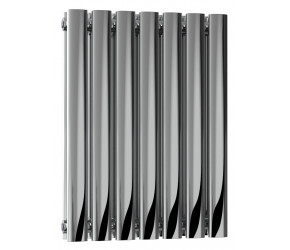Reina Nerox Polished Stainless Steel Double Panel Radiator 600mm x 413mm