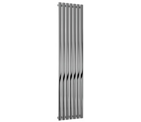 Reina Nerox Polished Stainless Steel Single Panel Radiator 1800mm x 413mm