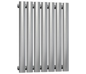 Reina Nerox Brushed Stainless Steel Single Panel Radiator 600mm x 413mm