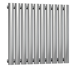 Reina Nerox Brushed Stainless Steel Single Panel Radiator 600mm x 590mm