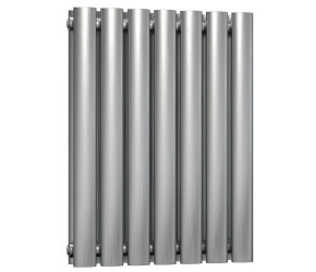Reina Nerox Brushed Stainless Steel Double Panel Radiator 600mm x 413mm