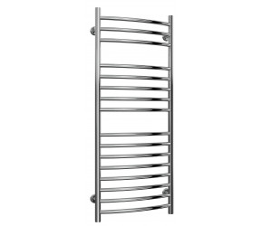 Reina Eos Stainless Steel Towel Rail Curved 1200mm High x 500mm Wide