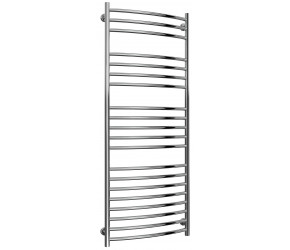 Reina Eos Stainless Steel Towel Rail Curved 1500mm High x 600mm Wide