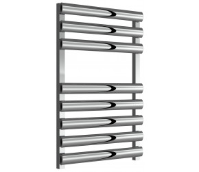Reina Veroli Polished Aluminium Designer Towel Rail 750mm x 480mm
