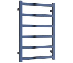 Reina Fano Blue Satin Aluminium Designer Towel Rail 720mm x 485mm