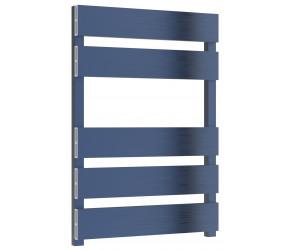 Reina Fermo Blue Satin Aluminium Designer Towel Rail 710mm x 485mm