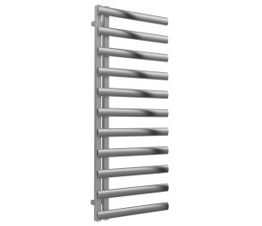 Reina Cavo Brushed Stainless Steel Towel Rail 1230mm High x 500mm Wide