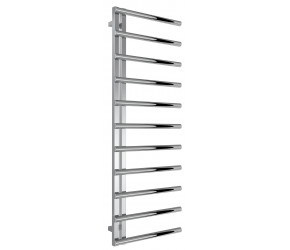 Reina Celico Polished Stainless Steel Designer Towel Rail 1415mm High x 500mm Wide