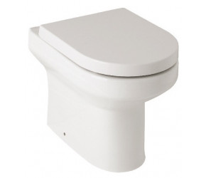 Kartell Bijou Comfort Height Back To Wall Toilet Pan with Soft Close Seat