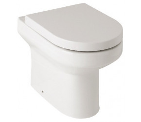Kartell Bijou Back To Wall Toilet Pan with Soft Close Seat