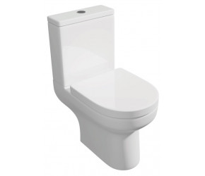 Kartell Bijou Close Coupled Close to Wall Toilet with Soft Close Seat