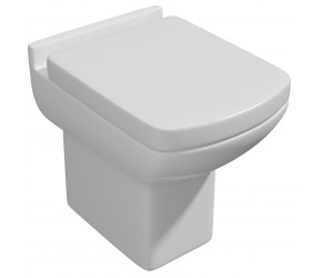 Kartell Pure Back to Wall Toilet Pan with Soft Close Seat