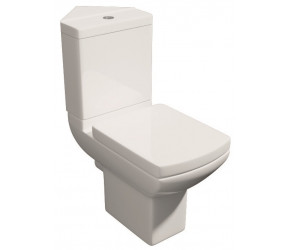 Kartell Pure Close Coupled Corner Toilet with Soft Close Seat