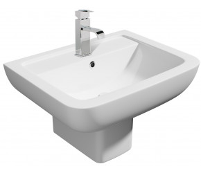 Kartell Options 1 Taphole 550mm Basin with Semi Pedestal