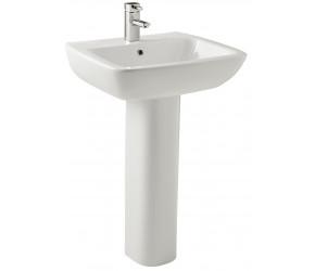 Kartell Evoque 550mm 1 Taphole Basin with Full Pedestal