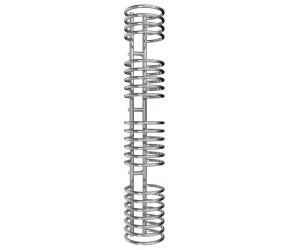 Reina Claro Coil Loop Designer Radiator 1600mm High x 300mm Wide