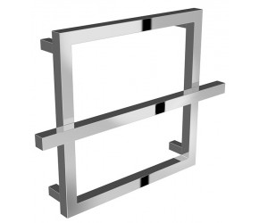 Reina Lago Designer Chrome Single Bar Towel Rail 450mm High x 600mm Width