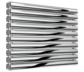 Reina Artena Double Panel Polished Stainless Steel Radiator 590mm x 800mm