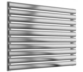 Reina Artena Single Panel Brushed Stainless Steel Radiator 590mm x 800mm