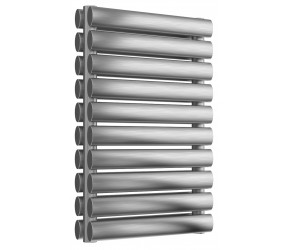 Reina Artena Double Panel Brushed Stainless Steel Radiator 590mm x 400mm