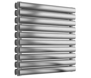 Reina Artena Double Panel Brushed Stainless Steel Radiator 590mm x 600mm