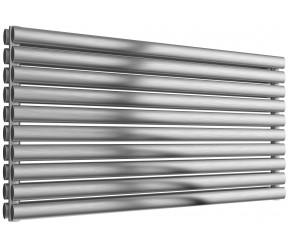 Reina Artena Double Panel Brushed Stainless Steel Radiator 590mm x 1200mm