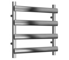 Reina Deno Brushed Stainless Steel Towel Rail 496mm High x 500mm Wide