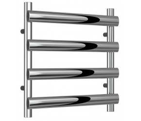 Reinaa Deno Polished Stainless Steel Towel Rail 496mm High x 500mm Wide