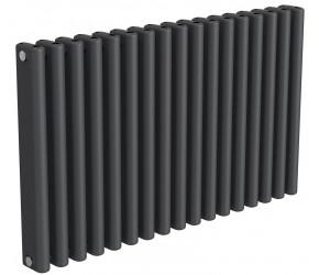 Reina Alco Anthracite Aluminium Horizontal Radiator 600mm x 1000mm