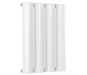Reina Belva White Aluminium Single Panel Horizontal Radiator 600mm x 412mm