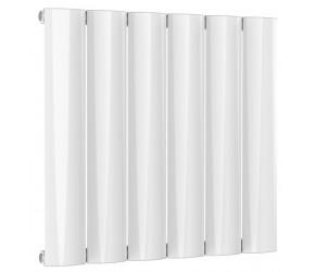 Reina Belva White Aluminium Single Panel Horizontal Radiator 600mm x 620mm