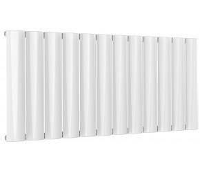 Reina Belva White Aluminium Single Panel Horizontal Radiator 600mm x 1244mm