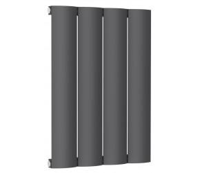 Reina Belva Anthracite Aluminium Single Panel Horizontal Radiator 600mm x 412mm