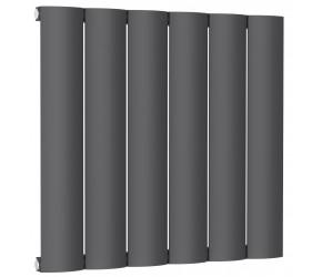 Reina Belva Anthracite Aluminium Single Panel Horizontal Radiator 600mm x 620mm